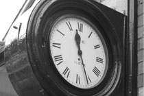 Picture of clock at Sheringham Station