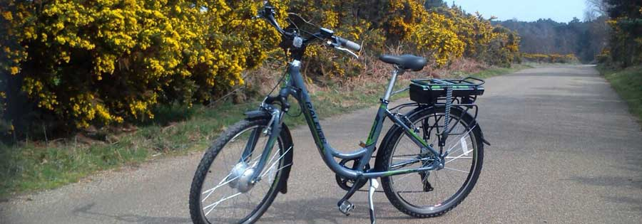 Off-road useable electric bikes complete with panniers & 25-mile range